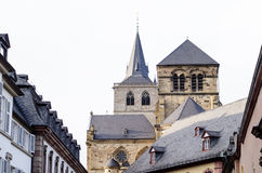 Trier, Germany, old buildings and Cathedral. Trier, Germany, old buildings and Trier Cathedral Royalty Free Stock Image