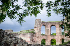 Trier Imperial Roman Baths, Kaiserthermen, Germany. Part of Trier UNESCO World Heritage Site Royalty Free Stock Image