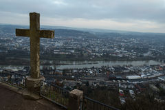 Trier marien column city view point Stock Images