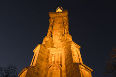 Trier marien column city view point at night Stock Photo