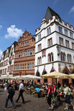 Trier Market Square. Germany. Tourists and local People at the Market Square (Hauptmarkt) in Trier. Trier is the oldest city of Germany - founded on 16 bc. Its a royalty free stock photo