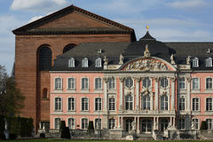 Trier Palce. Image of Trier Palace and basillica in Germany Stock Photo