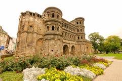 Trier Porta Nigra. Trier in Rhineland-Palatinate, the roman Porta Nigra Royalty Free Stock Photography