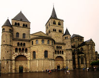 Trier / roman cathedral. Trier Cathedral, the oldest bishop's church in Germany, stands today in Trier's center Stock Photo