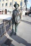 Triest, Italien 2019-Statue von James Joyce stockbilder