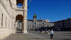 Triest Piazza Grande. Trieste in Italy in a timelapse stock video