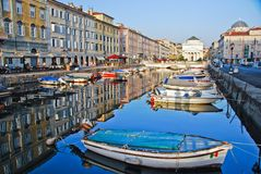 Triest street view Stock Images
