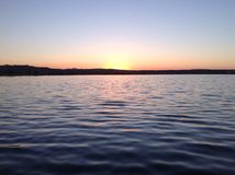 Trieste& x27; заход солнца s Стоковое Изображение