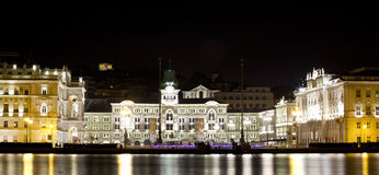 Trieste. View of Trieste in the Night Royalty Free Stock Photography