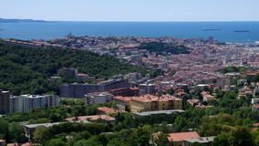 Trieste aerial view stock video footage