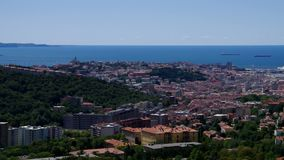 Trieste aerial view stock footage