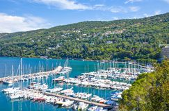 Trieste, the architectures and arts. Italy, Trieste, panoramic view of the Grignano marina Stock Photo
