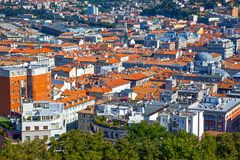 Trieste, the architectures and arts. Italy, Trieste,view on the city from the San Giusto castle Royalty Free Stock Images