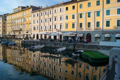 Trieste. Canal grande in trieste friuli 2016 Royalty Free Stock Photography