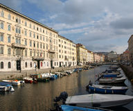 Trieste Canal Grande Stock Images
