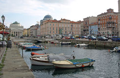 Trieste Canal Grande Royalty Free Stock Image