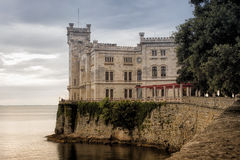Trieste. Castle of Miramare Stock Photos