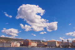 Trieste. City view in a sunny day Royalty Free Stock Photo