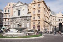Trieste e Trento quadrati, Napoli, campania, Italia, Europa Fotografie Stock