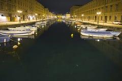 Trieste em a noite Fotografia de Stock Royalty Free
