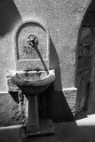 Trieste - fontana in vecchiadel città Fotografia Stock Libera da Diritti
