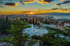 Trieste Italie Photos libres de droits