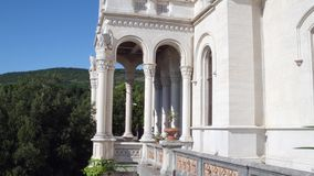 TRIESTE ITALIEN - AUGUSTI 11, 2017 Miramare slottdetaljer Royaltyfria Foton