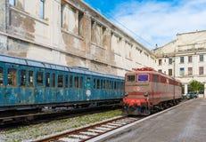 Trieste Italien: Elektrisk lokomotiv Royaltyfri Bild