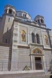 Trieste Italien - helgonSpyridon kyrka Arkivbild
