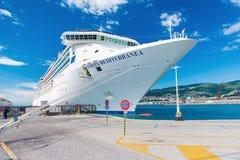 Trieste Italien: Italienskt Ande-grupp kryssningskepp Arkivbild