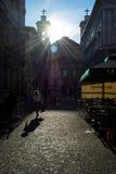 TRIESTE ITALIEN - JULI 01, 2014: Sikt av kyrkan för St Antonio i Tr Royaltyfria Bilder
