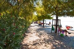 Trieste, Italy, Barcola free beach, bathing spot Stock Image