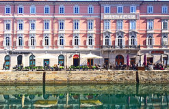 Trieste, Italy - Canale S. Antonio, picturesque cityscape Royalty Free Stock Photography