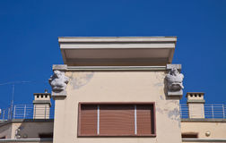 Trieste, Italy - Harbor master's office, architectural detail Royalty Free Stock Photography