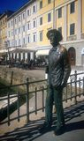 Trieste Italy, James Joyce monument Royalty Free Stock Photography