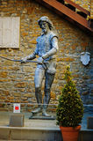 TRIESTE, ITALY - 21 JULY 2013: knight statue in San Giusto castle in Trieste, Italy Stock Images