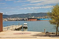 Trieste, industrial harbor Stock Photography