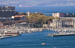 Trieste Italy- port, yacht harbor Stock Image