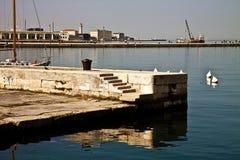 Trieste, Italy - Promenade on Le Rive, Trieste waterfront Stock Photo