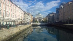 Trieste, Italy - S. Antonio canal Royalty Free Stock Photo