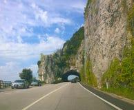 Trieste, Italy - Strada Costiera, natural gallery Stock Image