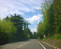 Trieste, Italy - Strada Costiera,panoramic route Royalty Free Stock Images