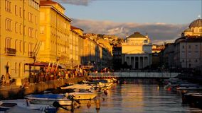 Trieste. In Italy in a timelapse stock video footage