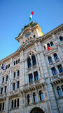 Trieste, Italy - Unity of Italy Square, detail of City Hall  tow Stock Photos