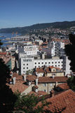 Trieste, Italy, view from the hills. Sunny Trieste, Italy, view from the hills Stock Image