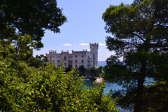 Trieste, Italy. View of Miramar Castle, Trieste, Italy Stock Photography