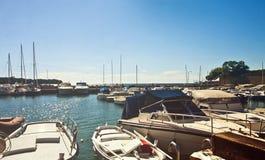 Trieste, mały schronienie Zdjęcia Stock