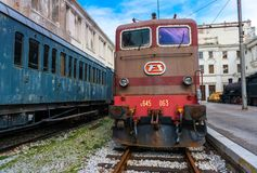 Trieste, Italy: Electric locomotive in Railroad Museum Royalty Free Stock Photos