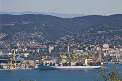 Trieste, new harbor Stock Photo