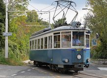 Trieste Opicina spårvagn Arkivfoto